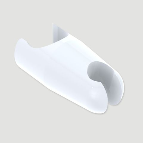 Anti-Ligature Slide Rail Handset Cradle - White