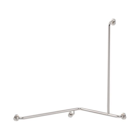 CF Cnr Shower Rail SS 760x1000x1100mm - RH