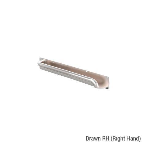 Anti-Ligature Horizontal Rail SS 450mm - RH