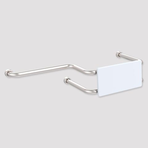HS Toilet Backrest with ext Wall Mount SS