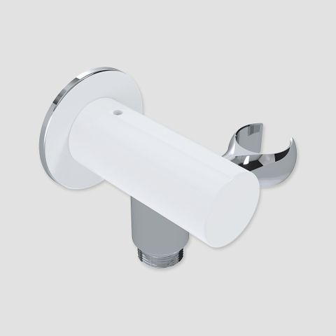 85mm Wall Outlet Elbow Bracket Chrome/White - 9L