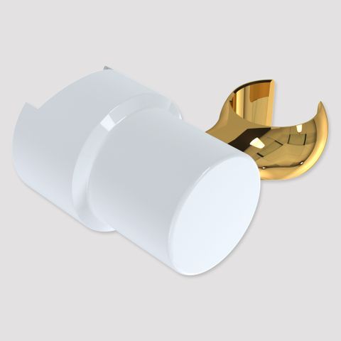 Brass Friction Glide Slide Cradle - White/Gold