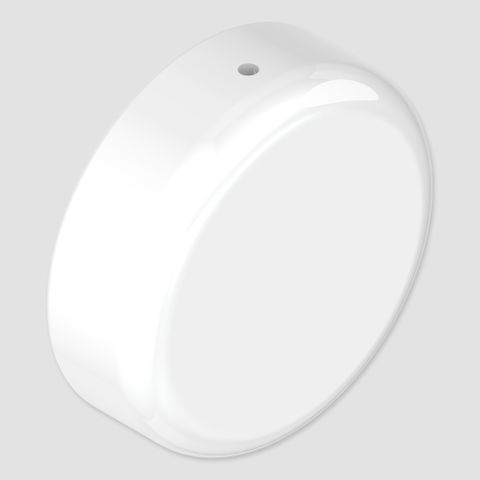 Hygienic Seal Blank End Flange - White
