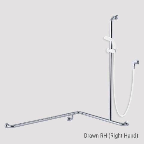 Commercial Kit 13 (1.5m Hose) Chrome/White - RH