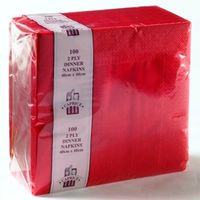 CAPRICE 2Ply Dinner Napkin Red 10x100