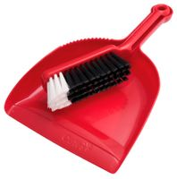 OATES Contractor Dustpan Set Red