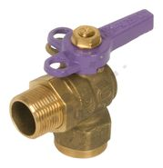 Ball Valve 90 Degree M x F Lilac