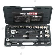 Metrinch 1/2 inch Drive Socket Set, 24 Piece
