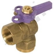 Ball Valve 90 Degree F x F Lilac