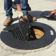 Manhole Safety Grate with 45mm Roller