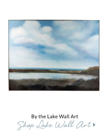 By The Lake Hand Painted Art - Reminice about your childhood family trips by the water, and bask in the calming nature of the brushstrokes that create this dreamy scene. Displayed in shadow box frame.
