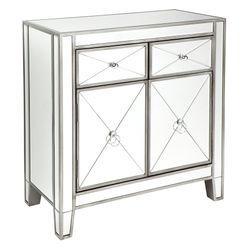 Apolo Mirrored Cabinet - Antique Silver