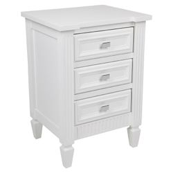 Merci Bedside Table - Small White