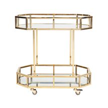 Brooklyn Mirrored Drinks Trolley - Gold