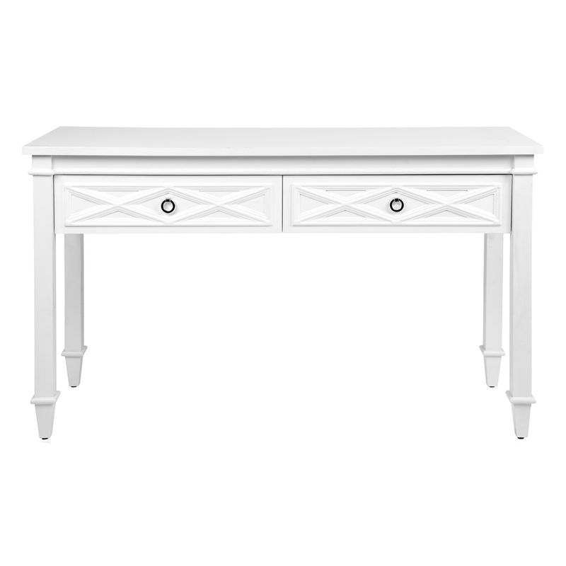 Plantation Console Table - White