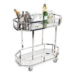 Brooklyn Mirrored Drinks Trolley - Silver