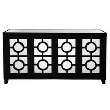 Stockton Mirrored Buffet - Black