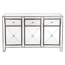 Apolo Mirrored Buffet - Antique Silver