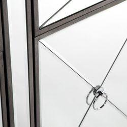 Apolo Mirrored Buffet - Antique Silver