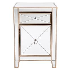 Apolo Bedside Table - Antique Gold