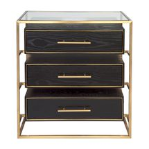 Vogue Bedside Table - Large Gold