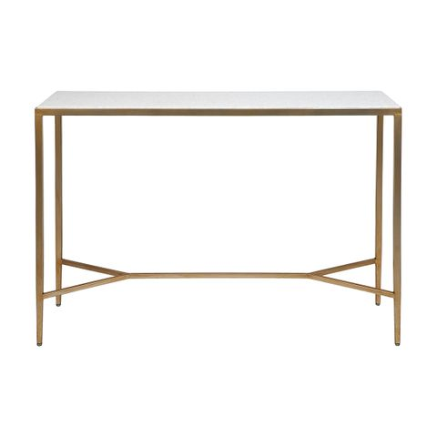 Chloe Marble Console Table - Large Gold