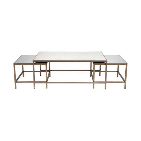 Cocktail Nesting Coffee Table - Antique Gold