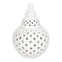 Miccah Temple Jar - Medium White