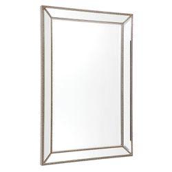 Zeta Wall Mirror - Medium Antique Silver
