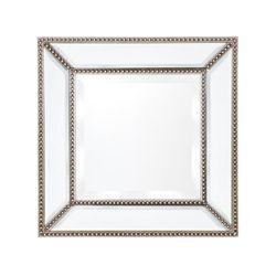 Zeta Wall Mirror - Small Antique Silver