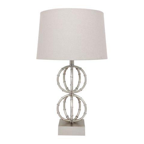 Lela Table Lamp - Antique Silver