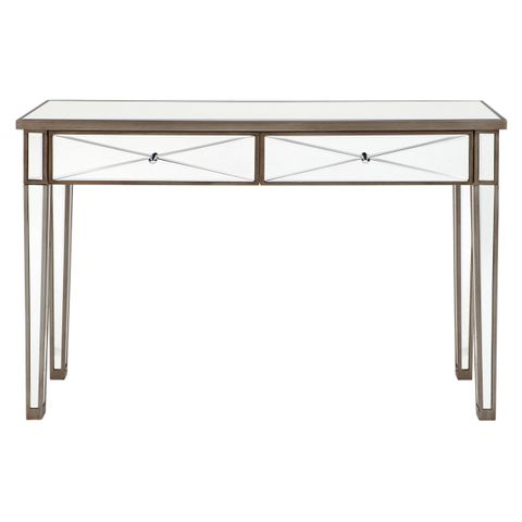 Apolo Console Table - Antique Silver