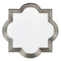 Marrakech Wall Mirror - Large Antique Silver