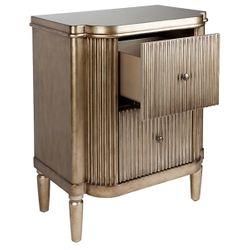 Arielle Bedside Table - Antique Gold