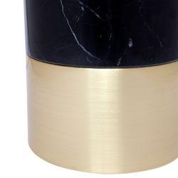 Paola Marble Table Lamp - Black w Black Shade