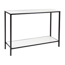 Cocktail Stone Console Table - Black