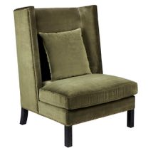 Lourdes Wing Back Occasional Chair - Moss Velvet