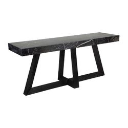 Ebony Marble Console Table - Black