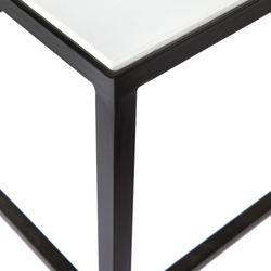 Cocktail Marble Nesting Coffee Table - White 3pc