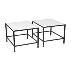 Cocktail Stone Nesting Coffee Table - Black