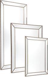 Zeta Wall Mirror - Large Antique Silver