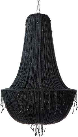 Allegra Chandelier - 8 Arm Black