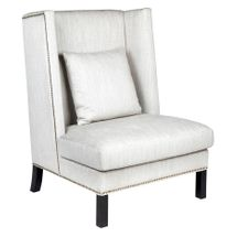 Lourdes Wing Back Occasional Chair - Natural