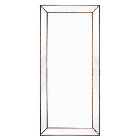 Zeta Floor Mirror - Antique Gold