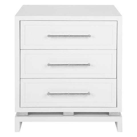 Pearl Bedside Table - Large White