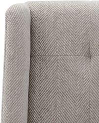 Duchess Tufted Occasional Chair -  Grey Chevron