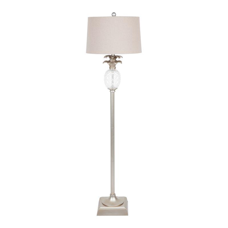 Langley Floor Lamp - Antique Silver