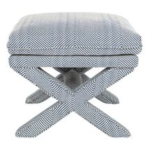 Candace Stool - Chevron Blue Linen