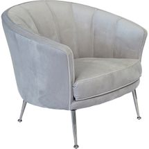 Studio Panelled Occasional Chair - Silver