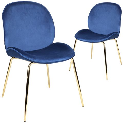 Quill Chair - Blue - Set of 2 chairs